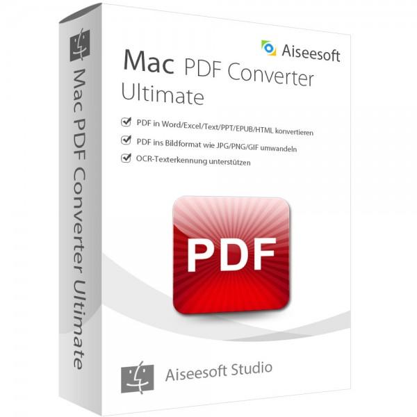 Aiseesoft PDF Converter Ultimate (Version 2017) - lebenslange Lizenz Mac OS