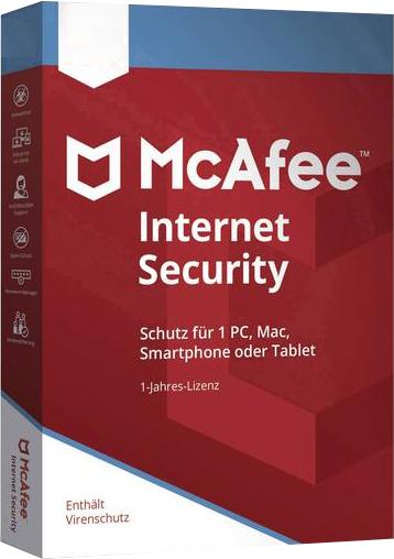 McAfee Internet Security 2020 Vollversion 1 Jahr