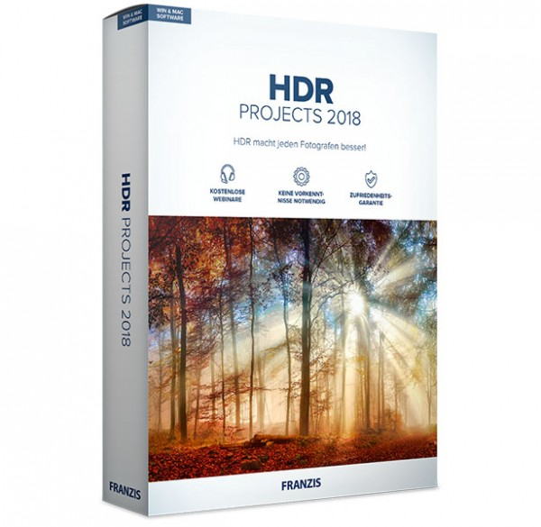 Franzis HDR projects 2018 Mac