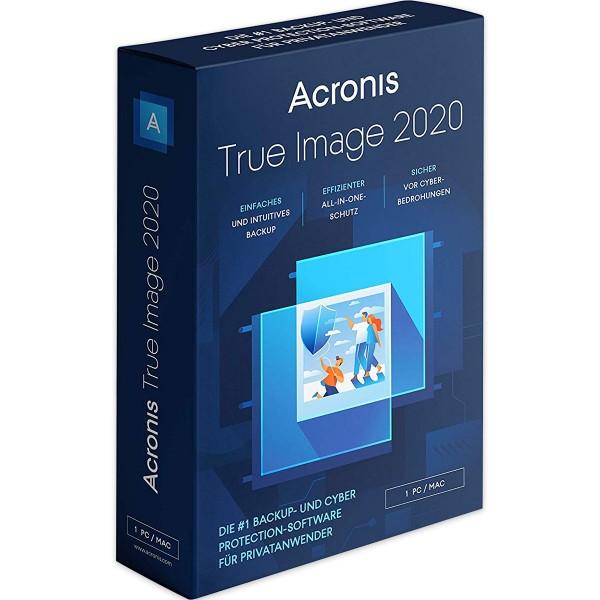 Acronis True Image 2020 Standard, PC/MAC, Dauerlizenz
