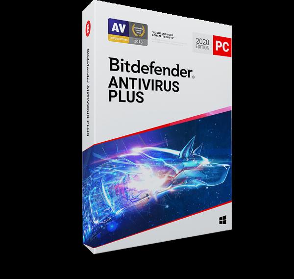 Bitdefender Antivirus Plus 2020 Vollversion, 1 Gerät 1 Jahr + 3 Monate