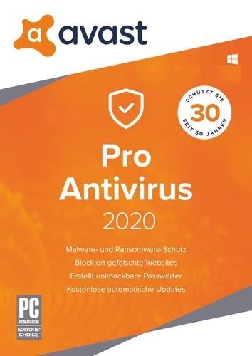 Avast Antivirus Pro 2020 inkl. Upgrade auf Premium Security