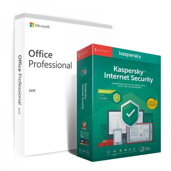 Kaspersky Internet Securtiy + Office 2019 Professional