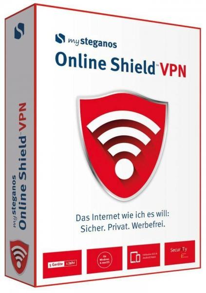 Steganos Online Shield VPN, 5 Geräte 1 Jahr