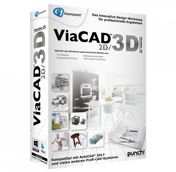 ViaCAD 2D/3D 10, WIN/MAC MacOS