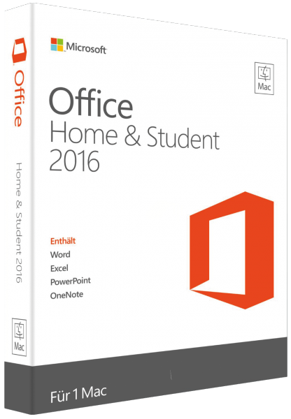 Microsoft Office 2016 Home and Student für Mac