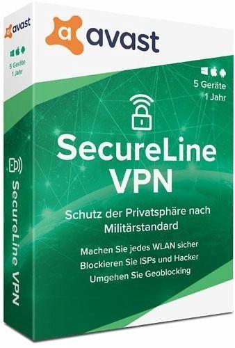 Avast SecureLine VPN, 5 Geräte