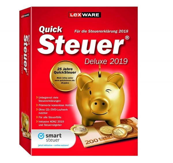 Lexware QuickSteuer Deluxe 2019, für die Steuererklärung 2018